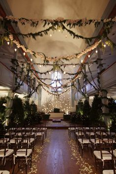 Perfect Wedding Decor for Enchanted Forest Wedding with Indoor . Wedding Ceremony Ideas, Ceremony Decorations, Wedding Venues, Wedding Locations, Mod Wedding, Wedding Blog, Fall Wedding, Wedding Planner, Dream Wedding