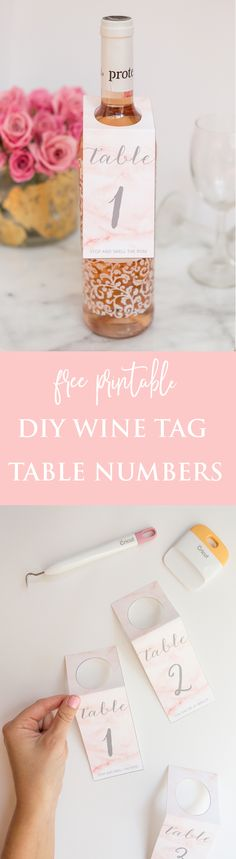 DIY Wine Tag Table Numbers For Your Wedding for your wedding