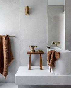 Concrete Nation takes a tour of a reimagined beach shack by CLO Studios on Queensland's Sunshine Beach. Bath Linens, Bathroom Inspiration, Beach Shack, Bathroom Decor, Concrete, Concrete Basin, Bathroom Interior Design, Bathroom Renovations, Bathroom Design