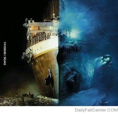 Titanic - 100 years after | DailyFailCenter ; i think this looks really cool!