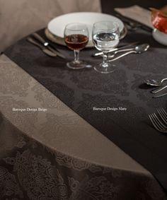 Linge de table en coton damassé supérieur en design Baroque, Renaissance ou Vigne | King of Cotton