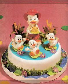 утенок - Мастер-классы по украшению тортов Cake Decorating Tutorials (How To's) Tortas Paso a Paso