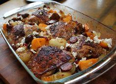 Baked chicken with pumpkin & chorizo - ChelseaWinter.co.nz