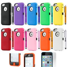 Hybrid Colorful Heavy Duty Dirt Proof Rugged Hard Case Cover For iPhone C Iphone 5c Cases, Cell Phone Cases, Cellular Accessories, Cell Phone Deals, Apple Iphone 5, Cell Phone Accessories, Smartphone, Cover, Colorful
