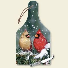 "Backyard Birds - Big Cheese Board by Highland Graphics. $15.99. Made in USA. Big Cheese Board. Hygienic, easy to clean, and has protective clear rubber feet. Size: 7.75"" w x 14.25"" h x .25"" d. Constructed of durable tempered glas. Backyard Birds - Big Cheese Board.  Comes with cheese knife."