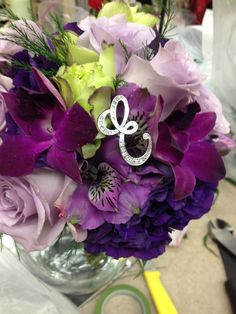 Shades of purple and a monogram E  The willows by Wehr columbiana ohio  330.482.2223