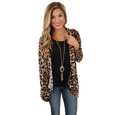 Spice up your fall wardrobe with this animal print overlay!