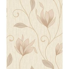 Erismann Branches Leaf Floral Wallpaper Bronze Silver Metallic Paste Wall Vinyl