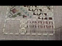 06 Loving Friends Music Box - Hardanger - Blanket Stitch Flower Filling Stitch - YouTube