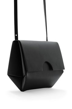 COS image 10 of Small constructed bag in Black