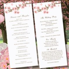 Printable Cherry Blossom Wedding Ceremony by WeddingTemplates, $10.00
