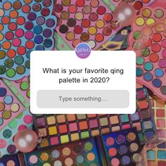 What is your favorite palette qing palette in 2020?😍💞⁠ comment below to let us know, and what you expect any idea of new palettes/beauty box in 2021?🎉😋⁠