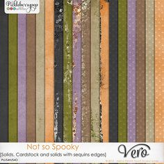 Not so Spooky [Solids, Card stock and solids with sequins edges] By Vero