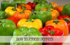How to freeze peppers (yes, you can!) - QueenBeeCoupons.com