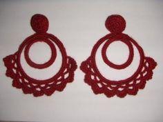 pendientes de ganchillo de aros pendientes aros,ganchillo crochet