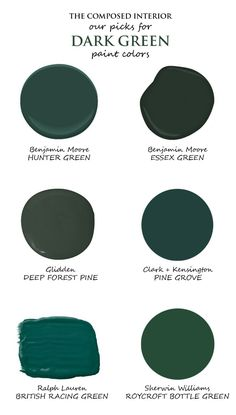 Dark green kitchen cabinets are a beautiful and unusual choice. Pair with brass accents for warmth Dark green kitchen cabinets are a beautiful and unusual choice. Dark Green Rooms, Dark Green Kitchen, Emerald Green Rooms, Dark Green Bathrooms, Green Accent Walls, Green Accents, Bedroom Green, Bedroom Decor, Green Living Room Walls