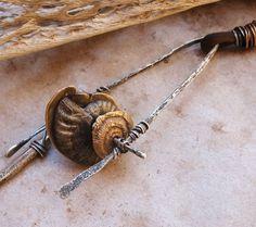 Tribal Desert Primitive Fossil Wheels on by deserttalismans