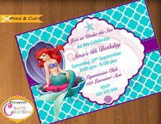 The Little Mermaid Invitation - Mermaid Invitation - Ariel Mermaid Invite - Girls Birthday Party - Mermaid Printable - CraftyCreationsUAE
