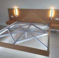 Bed Frame Design, Bedroom Bed Design, Bedroom Furniture Design, Modern Bedroom Design, Home Room Design, House Design, Cama Design, Steel Bed Design, Floating Bed Frame