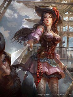 Duelista 9cab9cb6be33de93e657719ad0b25709--female-pirates-female-art