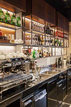 Bar Interior Design, Restaurant Interior Design, Cafe Interior, Cafe Design, Cafe Restaurant, Modern Restaurant, Deco Pizzeria, Cocktail Bar Design, Home Bar Designs
