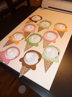 Re-usable punch board, ice cream socks to review songs for program, earn an ice cream party.