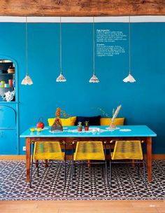 Color is refreshing and lovingly cradles you during your day.    >    Colorful Homes (cmddir: Ideat, Fevrier 2013)
