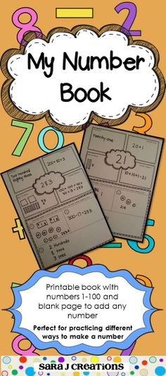 My Number Book - CCSS Aligned for Grades 1 and 2.  Includes numbers 1-100 with a blank page to add any number.  Each page allows students to practice their place value understanding by writing the given number in word form, expanded form, base ten blocks and a number sentence. It also includes a spot for writing the number three additional ways so students can practice using tallies, pictures, number sentences, money and more.