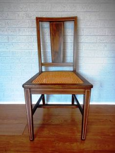 Beautiful Ivory Inlaid Cane Bottom Walnut Chair By MonkeyfootJunction On  Etsy