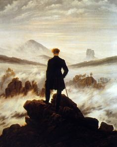 This picture is of Casper David Fredrick and it shows him on some rocks looking at the mist of the sea it was made by Hamburg Kunsthalle. in Germany it is a oil on canvas painting. I like this painting because it looks like he's looking out to ocean like its a war or the world. He looks like he's ready to concur anything no matter what it is and I like the thick layers of oil he used to make the wave look so cool and steady