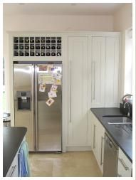 Housing For Side By Side Fridge Freezer With Integral Wine Rack, Appliance  Cupboard With Bifold