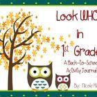 Back to School - 1st Grade Activity Journal - Nicole Rios
