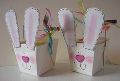 paper crafts for kids easter bunny baskets