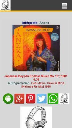 Aneka - Japanese Boy [An Endless Music Mix 12''] 1981 SIETE EN FILA [Del Género New Wave & Synth Pop] Lunes y Martes a las 8:00 de la noche por euro80s.net