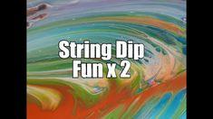 229 - String Dip Fun x 2..... a feathery delight !