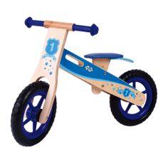 Bigjigs toys. Niebieski rowerek biegowy przeznaczony jest dla chłopca. Wykonano go z wysokiej jakości materiałów. Solidna konstrukcja pozwoli cieszyć się rowerkiem przez długie lata.
