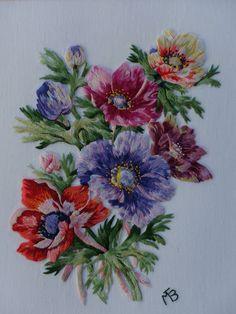 Peinture à l'aiguille réalisée par Marie Thérèse