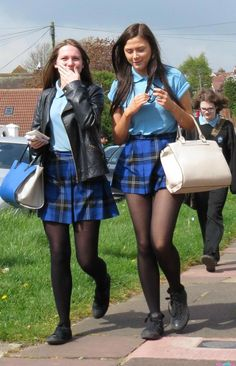 Best how to wear black tights girls Ideas sexy school girl Best how to wear black tights girls Ideas Pantyhose Outfits, Black Pantyhose, Black Tights, Nylons, School Uniform Outfits, Cute School Uniforms, Girls Uniforms, Private School Uniforms, Pretty Blonde Girls