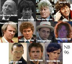Doctor Who Meme. Besides the pictures of William Hartnell, Patrick Troughton, John Pertwee, Tom Baker, Peter Davison, Colin Baker, The Seventh Doctor, Paul McGa