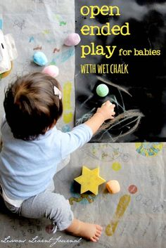 Easy and fun, for babies and onwards: Open ended play with wet chalk | Lessons Learnt Journal