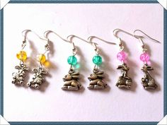 Here are some cute Easter bunny earrings, just three pairs available. Great little Easter gift for children or adults xx