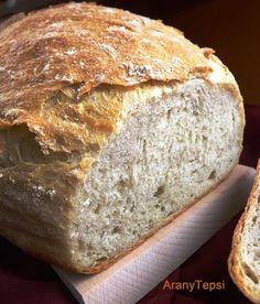 Nem túl gyakran készítek kenyeret, de mostanában jobban kedvelem az öregtésztával dagasztott fajtákat. Igaz, hogy így több idő alatt készül ... Pastry Recipes, Bread Recipes, Torte Cake, Hungarian Recipes, Hungarian Food, Bread And Pastries, Kaja, Health Eating, How To Make Bread
