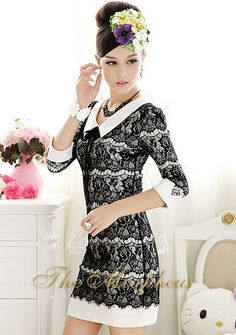 Morpheus Boutique  - Black Lace Vintage Layer Hemline Designer  Lady Dress