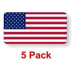 Foreman Decal American US USA Waving Flag Vinyl Hard Hart Sticker Decal
