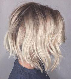 Bob Haircut For Fine Hair, Bob Hairstyles For Fine Hair, Messy Hairstyles, Hairstyles Haircuts, Blonde Bob Hairstyles, Hairstyle Ideas, Layered Bob Haircuts, Layered Bobs, New Hair