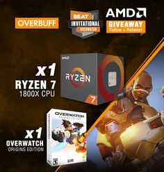 Visit The Link In Our Bio For Your Chance To Win a Ryzen 7 1800X CPU and Overwatch! #pinterestegiveaway #amd #game #giveaway #gaming #gamer #videogames #gamestagram #sorteo #follow #followme #win #contest #sweepstakes #giveaways #giveawayindonesia #giveawayph #giveawaycontest #giveawayindo #giveawaymalaysia #entertowin #contestalert #goodluck