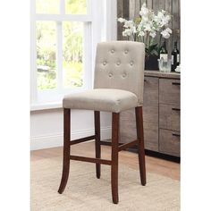 kinfine tufted parson bar stool wayfair - Light Blue Accent Chair