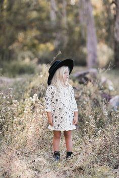 Rylee & Cru lookbook, kids photography, meadow, boho, woodland, forest, girls dress, natural