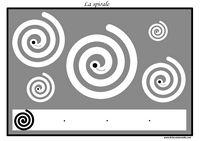 ** 20 pistes graphiques à imprimer  Apprendre à tracer des spirales