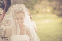 Glowing Bride Before She Walks Down The Isle